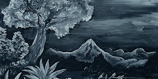 Acrylic Painting in Black & White
