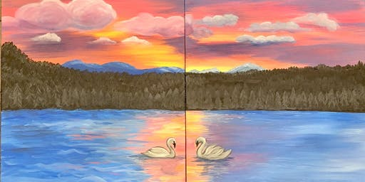 Paint and Sip: Swan Sunset