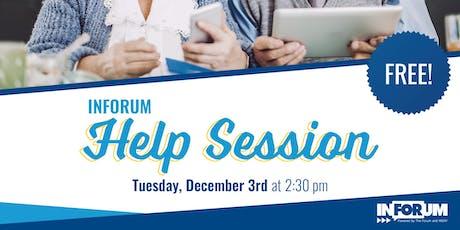 InForum Help Session tickets