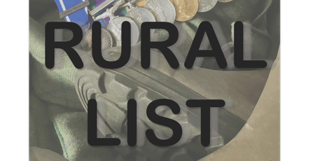 THE RURAL LIST - Veterans into Land-Based Careers - HOW TO NETWORK tickets