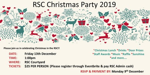 RSC Christmas Party 2019