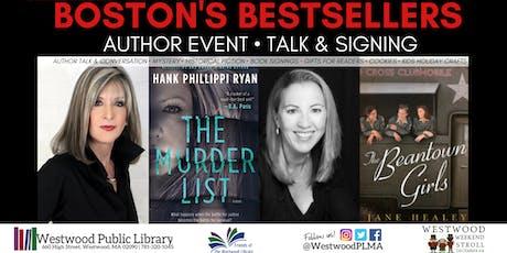 Boston's Bestsellers: Hank Phillippi Ryan, Jane Healey- Talk & Signing tickets