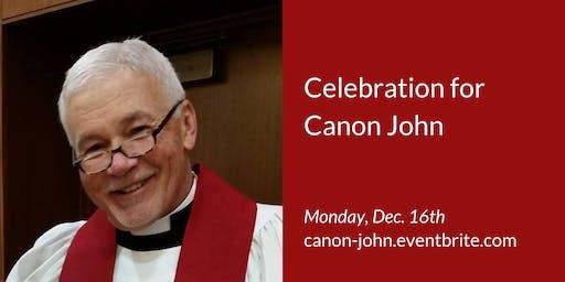 Celebration for Canon Crosswaite