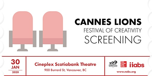 Cannes Lions Vancouver Screening 2020 Presented by Cineplex Media