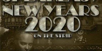 Las Vegas Strip New Years 2020 - A Speakeasy View of Fireworks Countdown