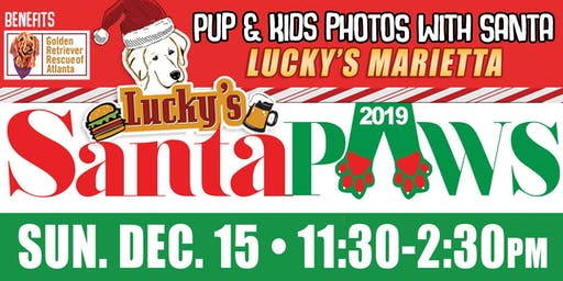 Santa Paws Photos with Santa Lucky's Marietta