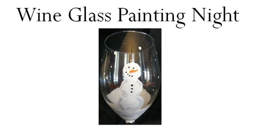Snowman Wine Glass Painting Night