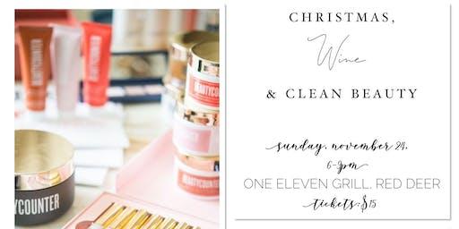 Christmas, Wine & Clean Beauty