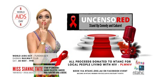 UncensoRED - Comedy & Cabaret - World AIDS Day