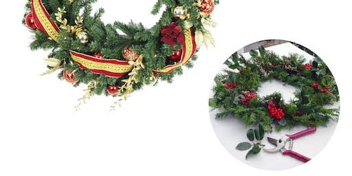Sip and Easy Christmas Wreath DIY 学做圣诞装饰圈