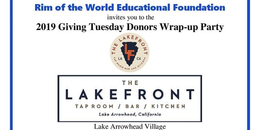Giving Tuesday Lake Arrowhead- Networking event!!!