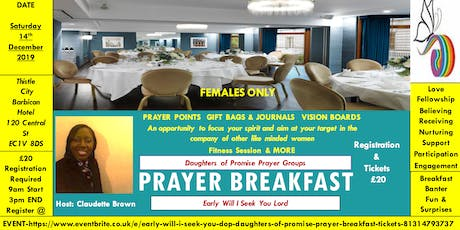 Early Will I seek You - (DOP) Daughters Of Promise - Prayer Breakfast  tickets