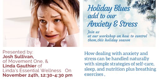 Not a  Blues Band but reality-- Stress, Anxiety & Holiday Blues