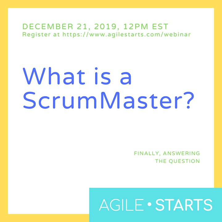 What is a ScrumMaster? image