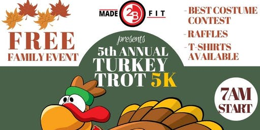 Made2BFit's 5th Annual Turkey Trot & Food Drive