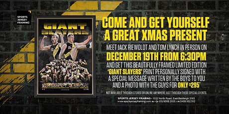 Giant Slayers with Riewoldt and Lynch at Sports Jersey Framing! tickets