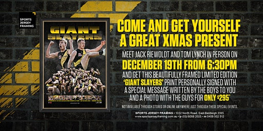Giant Slayers with Riewoldt and Lynch at Sports Jersey Framing!