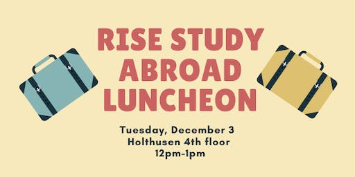 RISE Study Abroad Luncheon