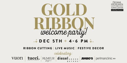 Gold Ribbon Welcome Party