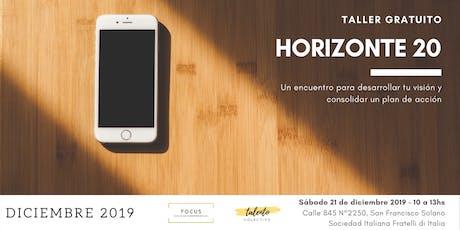 Horizonte 20 - Talento Colectivo entradas
