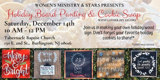 Holiday Board Painting & Cookie Swap