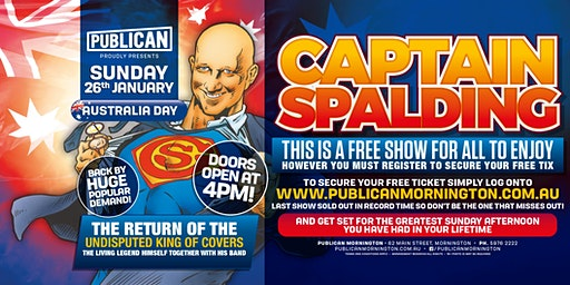 Australia Day feat Captain Spalding LIVE at Publican, Mornington!
