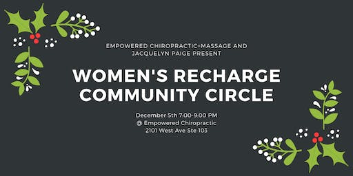 Women's Recharge Community Circle