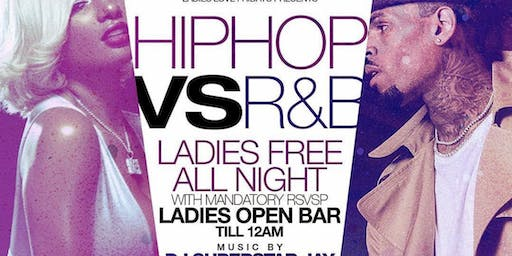 Hip Hop Vs R&B : Ladies Free @ Jimmy's