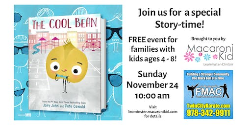 """Story-time featuring """"The Cool Bean"""""""