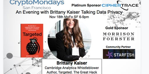 An Evening with Brittany Kaiser, Data Privacy Advocate, Whistleblower