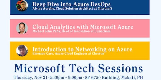Microsoft Tech Sessions - November