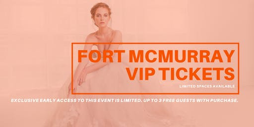 Opportunity Bridal VIP Early Access Fort McMurray Pop Up Wedding Dress Sale