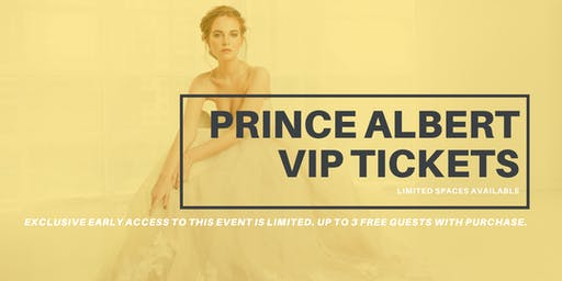 Opportunity Bridal VIP Early Access Prince Albert Pop Up Wedding Dress Sale