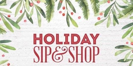 November Holiday Sip and Shop tickets