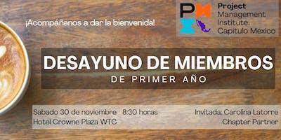 PMI MX: Desayuno de miembros de primer año