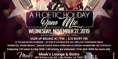 A FLOETIC HOLIDAY Open Mic tickets