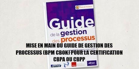 Préparation à la certification BPM CBPP® en français - module 5 jours billets