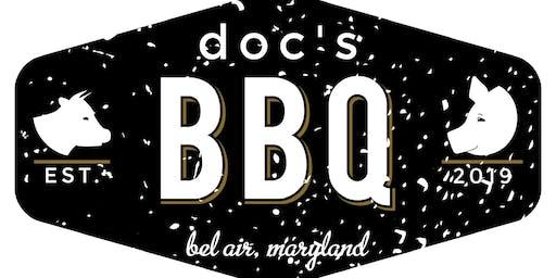 doc's BBQ pop-up dinner