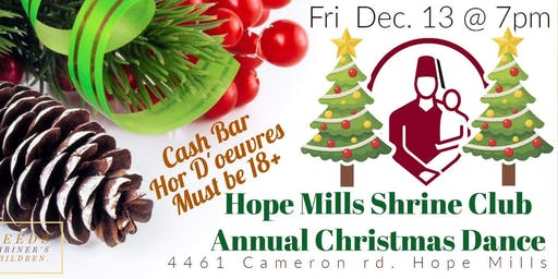 Annual Christmas Dance hosted by Hope Mills Shrinette Org