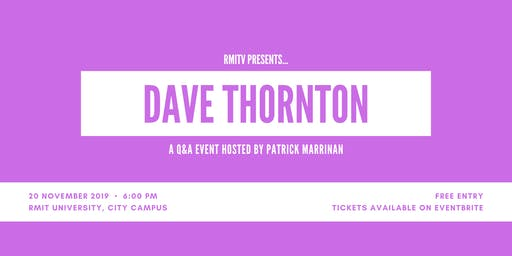 Dave Thornton: Q&A Event