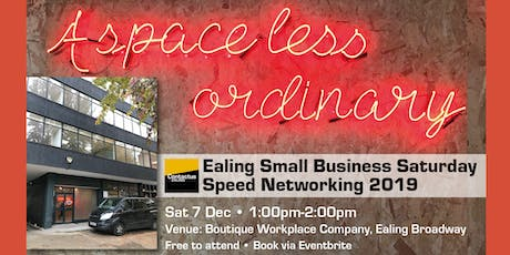 Ealing Small Business Saturday Speed Networking tickets