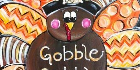 Kids Thanksgiving Canvas- Turkey