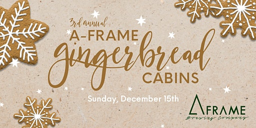 A-FRAME Brewing Co Gingerbread Cabins