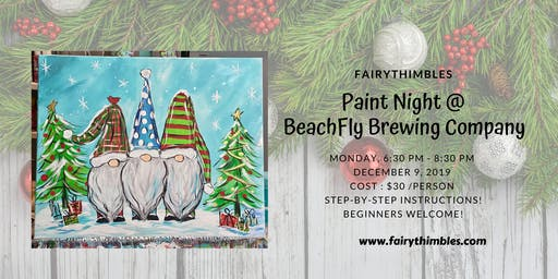 Christmas Gnomes at BeachFly Brewing Company