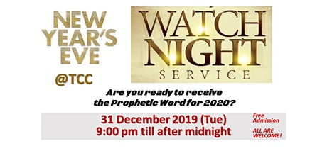 Watchnight --Into the year 2020 tickets