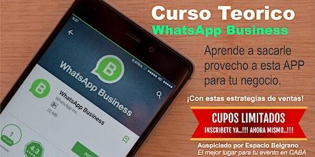 Como vender por WhatsApp Business  entradas