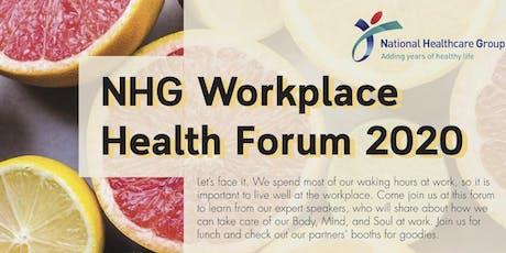 NHG Workplace Health Forum 2020 tickets