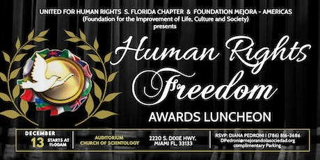 3rd Annual Human Rights Freedom Awards Luncheon tickets
