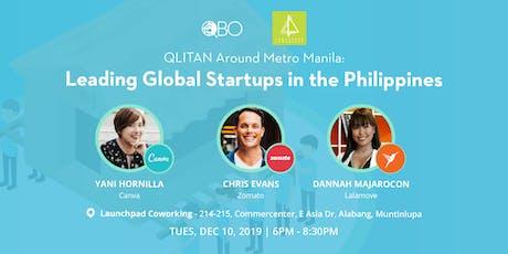 QLITAN around Metro Manila: Leading Multinational Startups in the Philippines tickets