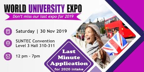 The Last World Uni Expo @ Suntec Sat 30 Nov Level 3 Hall 310-311 tickets